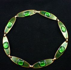Mid Century Modernist Signed Kay Denning Green Enamel on Copper Fused from audreystime on Ruby Lane