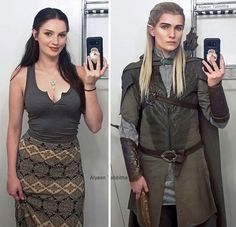 Legolas Cosplay by Alyson Tabbitha Costume Wigs, Costume Makeup, Legolas Costume, Joker Costume, Amazing Cosplay, Best Cosplay, Cool Costumes, Halloween Costumes, Funny Wigs