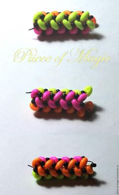 Плетем жгут из бусин-twin в технике ндебеле - Ярмарка Мастеров - ручная работа, handmade