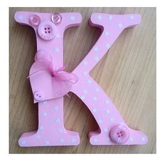 Free standing wooden letter Letters can be personalised and are made to order in any colour scheme New Baby Crafts, Crafts To Make, Arts And Crafts, Diy Crafts, Painted Letters, Wood Letters, Letter Art, Craft Gifts, Color Schemes