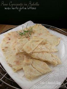 Pane croccante e veloce in padella senza lievito glutine lattosio