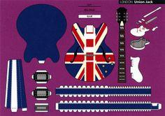 Make City, London, Union Jack - Cut Out Postcard by Shook Photos, via Flickr