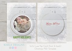 5x7in Christmas Luxe Pop Cards psd templates {2} on Etsy, £3.19