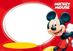 Mickey Mouse and Friends Invitation Template on an Invitation CardThe characters on the Mickey Mouse universe are lovable by the children. From Mickey, Minnie, Goofy, and Donald, all of them are funny and can be used as the theme of a party. Mickey Mouse Png, Fotos Do Mickey Mouse, Photos Mickey Mouse, Mickey Mouse Frame, Mickey Mouse E Amigos, Fiesta Mickey Mouse, Mickey Mouse Parties, Mickey Party, Mickey Mouse And Friends