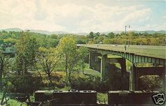 Wasena Bridge Roanoke VA Norfolk & Western Railroad Virginia c1970 Postcard