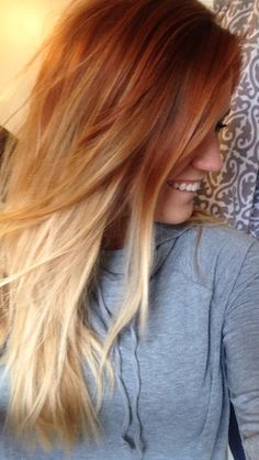 Red blonde ombré http://coffeespoonslytherin.tumblr.com/post/157380759502/stunning-short-layered-bob-hairstyles-short