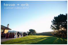 Tehema Golf Club Outdoor Ceremony •Tehama Golf Club Wedding • Carmel Valley Wedding