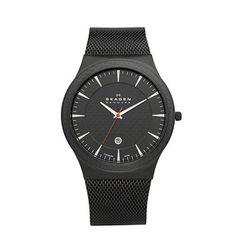 SKAGEN® Mens Mens Watches: Black Titanium Watch 234XXLTB