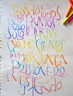 Letras dibujadas 2012. Alumna Rocío Amura.  Drawn letters 2012. Student Rocío Amura.  Silvia Cordero Vega (LETRERIAS)