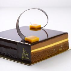 My signature cake, brownie passion chocolate gateau from Le Petit Gateau patisserie in Melbourne, Australia