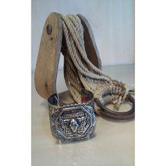 Silvertone Longhorn Cuff Bracelet