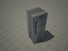 Bloco Sketchup de geladeira duplex para cozinha. Disponível para download no site através da compra da biblioteca completa.