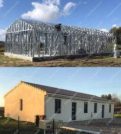 Portfolio of The Lightweight Steel Structures Factory - UnicRotarex®. Steel houses and industrial buildings done by our technology in the entire world. Steel House, Metal Structure, House Building, Bucharest, Steel Frame, Construction, Italy, France, World