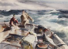 james sessions american 1882 1962 stormy seas c 1940 watercolor ...