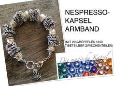 Nespresso Kapsel Schmuck Anleitung - Armkette aus kleinen Kugeln - die magische (Kaffee-) Kapsel - YouTube
