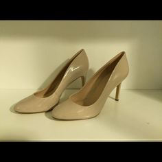 BCBG classic nude pumps Nude pumps. Match everything. Can be dressed up or down. Perfect go-to shoe for many occasions. Patent leather. Worn once. BCBG Shoes Heels