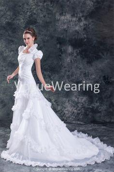 Spring/ Fall Natural A-Line Zipper-back Most Beautiful Wedding Dresses -Wedding Dresses