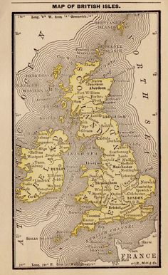 Old Maps, Antique Maps, Rare Antique, Vintage World Maps, World History Map, Map Of Britain, United Kingdom Map, England Map, Geography Map