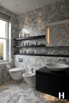 Edgy bathroom.