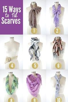 scarf tying inspiration