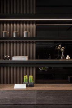 Amazing Modern Apartment Decorating Ideas Kitchen – Home Decoration Modern Apartment Design, Home Interior Design, Interior Architecture, Shelving Design, Tv Wall Design, Built In Furniture, Furniture Design, Living Room Decor Inspiration, Design Living Room