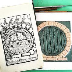 Oggi la porta della casa di un #hobbit ... #workinprogress per un #customorder sarà leggermente diversa dal bozzetto . E boh... mi sento proprio nel mio elemento...    #archidee #becreative #bepositive #lordoftheringsfan #lordoftherings #workshop #polymerclayworkshop #polymerclay #pastapolimerica #fimo #cernit #polymerclayartist #polymerclaycreations #fimocreations #disegno #bozzetto #handmade  #scketch #instasketch #drawing #fantasy #hobbithouse #hobbitlife #hobbitdoor #whimsical #instadraw