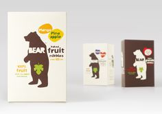 Dried fruit packaging for Bear designed by B and B Studio. I love this packaging and the idea of it being in boxes!