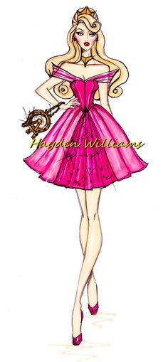"""Aurora""  [The Disney Diva's Collection]    Illustrator & Fashion Designer ~Hayden Williams~  [July 26 2012]"