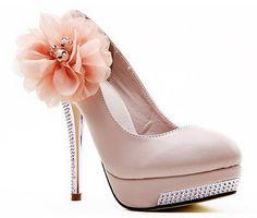 Pink Party Queen Glitter High Heel Platform Lace Flower Women Wedding Shoes