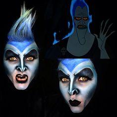Creepy Cool Makeup Inspiration - Source Instagram @vanityvenom Inspired Disney Hercules/ Hades    #halloween #disney #disneyland #makeup #halloweenmakeup #hades #hercules #creepy #creepycool #creepygirlsclub