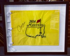Did you go to the Masters this year? If so, bring in your flag and let us frame it in one of our turf and golf ball patterned mats! Custom framed by FastFrame of LoDo. #art #framing #denver #colorado #golf #masters