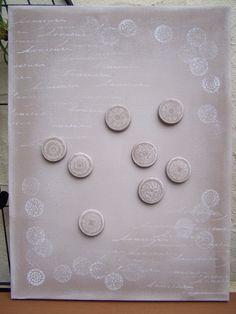 Toile magnétique sur châssis & Magnets en pâte à modeler durcissante. Peinture acrylique au rouleau mousse et peinture acrylique aux tampons bois... Magnets assortis assortis en pâte à modeler durcissante, aimants extra forts au dos  Ƹ̵̡Ӝ̵̨̄Ʒ Nouillelfique
