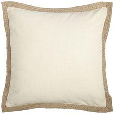 Jute Trim Pillows - Ivory
