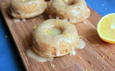 The cake doughnuts in this recipe are moist, citrus-y, and topped with a sweet, lemon icing. As these doughnuts bake, the scent of warm, lemony baked goods will fill your home.