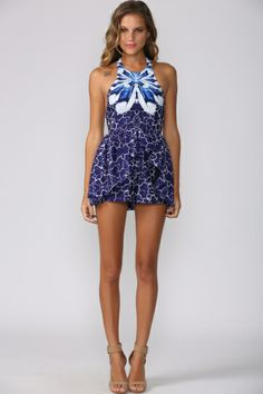cee1bb40af6 Fifty Shades of Navy Playsuit