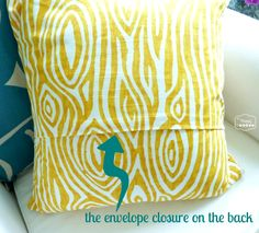 super crazy easy fast ten minute one piece envelope pillow covers back closure at thehappyhousie