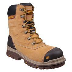 ed3d5dca223fe4 CAT Premier Honey Nubuck Waterproof Easy On Side Zip Mens Safety Boots Shoe  Brands, Premiers
