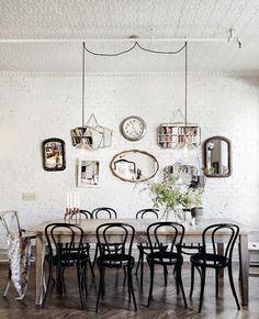 Miroir - chaises