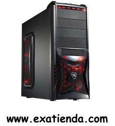 """Ya disponible Caja gaming uk 8018    (por sólo 53.89 € IVA incluído):   -Formato:Micro ATX yATX (GAMING) -Bahias externas: 4 x 5.25"""" 1 X 3.25"""" -Bahias internas: 6 x1 X 3.25"""" -Conectores frontal:1 x USB Frontales + HD Audio + 1 x USB 3.0 -Ventilador adicional:3 x 12cm (2 x laterales, 1x trasero)  -Fuente: NO incluye fuente de alimentación. -Medidas (anch x alt x prof ): -Display:NO -Color:Chassis Negro Mate -Extras: Admite refrigeración líquida externa, 3x120 mm fan led"""