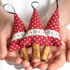 Schneeflocke Urlaub Dekor Ornament Zimt Holz von BeledienHandmade