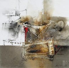 """Hyun Jou-Lee - Day After Day IV - 18"""" x 18"""" - mixed media on canvas"""