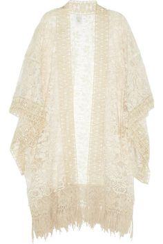 Anna Sui Draped lace kimono top  NET-A-PORTER.COM