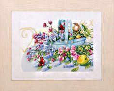 Набор для вышивания Lanarte PN-0151014 Букет с павлиньими бабочками