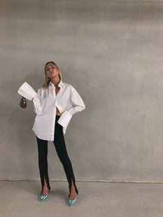 Fashion Tips Color Athens-based fashion influencer Natalia Georgala sporting our Signature Shirt in White. Tips Color Athens-based fashion influencer Natalia Georgala sporting our Signature Shirt in White. Fashion Pants, Look Fashion, Fashion Outfits, Womens Fashion, Fashion Tips, Classy Fashion, 90s Fashion, Korean Fashion, Minimal Fashion