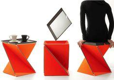 Kada – Multifunctional Table/Seat by Yves Behar » Yanko Design