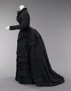 Mourning ensemble Date: 1870–72 Culture: American Medium: silk Accession Number: 2009.300.633a–c