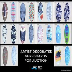 If It's Hip, It's Here: Artist Decorated Surfboard Auction Benefits Waves For Water.