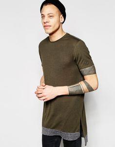$18 ASOS Super Longline T-Shirt With Contrast Hem Extender