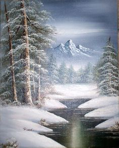 snow scenes | Painting Snow Scenes Watercolor Hawaii Dermatology Images Pictures