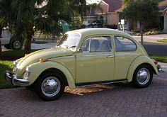 Looks like My very first car!  1970 VW Bug except primered black and gray :)